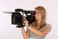 Professional Camera Girl Stock Image
