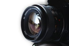 Professional Camera lens. With isolated background Stock Image