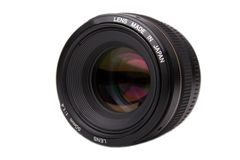 Professional Camera Lens. 50 mm Stock Photos