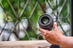 Professional camera lens Stock Images
