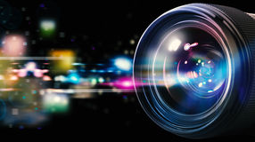 Professional camera lens Royalty Free Stock Photography