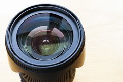 Professional camera lense isolated on white background.  Stock Images