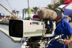 Professional camera operator Royalty Free Stock Images