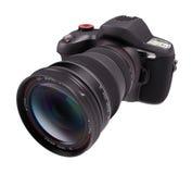 Professional Camera Over White Stock Image