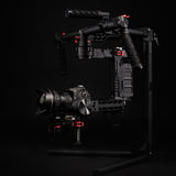 Professional camera set on a 3-axis gimbal. Studio image Stock Images