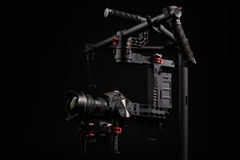 Professional camera set on a 3-axis gimbal Stock Photography