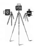 Professional camera tripods, end XIX century Royalty Free Stock Photo