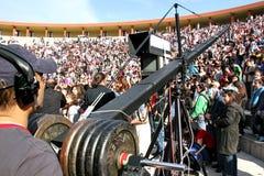 Professional cameraman Stock Photography