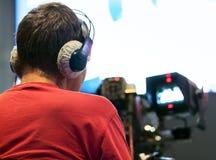 Professional cameraman Royalty Free Stock Image