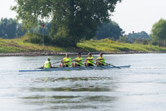 Professional canoe rowers Stock Photos