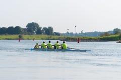 Professional canoe rowers Stock Image