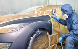 Professional car painting. Royalty Free Stock Photo
