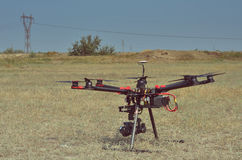 Professional carbon drone Royalty Free Stock Photos