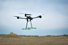 Professional carbon drone with GPS making a ride Stock Photography