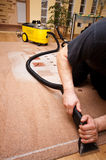 Professional carpet cleaning Stock Image