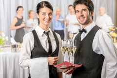 Professional catering service stock photo