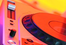 Professional CD Player. In fascinating colors royalty free stock photo