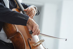 Professional cellist performing Stock Photography