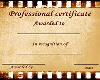 Professional certificate Stock Photos