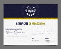 Free Professional Certificate. Template Diploma With Luxury And Modern Pattern Background. Achievement Certificate Royalty Free Stock Photos - 142982438