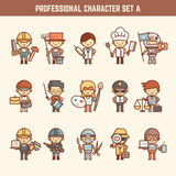 Professional character set Stock Photo