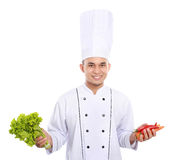 Chef with fresh ingredient Stock Image