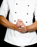 Professional chef with a hand gesture towards Royalty Free Stock Images