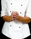 Professional chef with a hand gesture Stock Photos