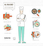 Professional chef vector illustration