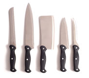 Professional Chef's Knives Stock Photo