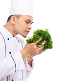 Chef with fresh ingredient Royalty Free Stock Image