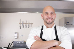 Professional chef smiling Royalty Free Stock Images