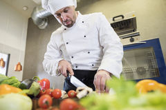 Professional chef at work Royalty Free Stock Photography