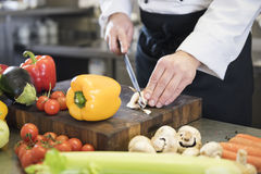 Professional chef at work Royalty Free Stock Images