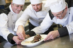 Professional chef at work Stock Photos