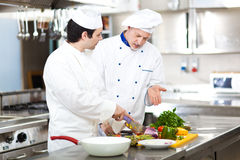 Professional chefs at work Stock Photo