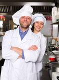 Professional chefs working at take-away Stock Photography