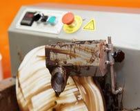 Professional chocolate melting machine Royalty Free Stock Images