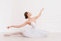 Professional classical dancer staring aside Stock Photo