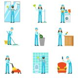 Professional Clean Up Service Set Of Illustrations Royalty Free Stock Images