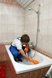 Professional cleaner Royalty Free Stock Photo