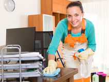 Professional cleaner  cleaning the office Stock Photography