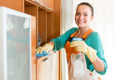 Professional cleaner  cleaning the office Stock Images
