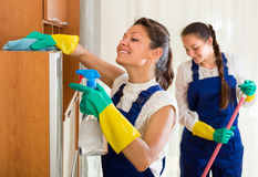 Professional cleaners make cleaning Royalty Free Stock Photo