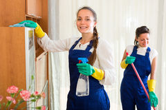 Professional cleaners at work Royalty Free Stock Images