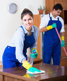 Professional cleaners at the work Stock Photography