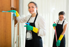 Professional cleaners at work Royalty Free Stock Image