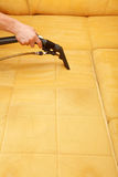 Professional cleaning. Of the upholstery on a sofa Stock Photo