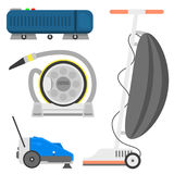 Professional cleaning equipment isolated vector home cleanup vacuum housekeeping service cleaning equipment housework Royalty Free Stock Photo