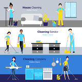Professional Cleaning Horizontal Banners Royalty Free Stock Photo